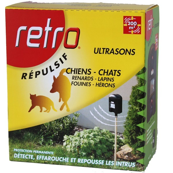 R pulsif ultrasons chiens et chat retro d tecte et for Repulsif chat exterieur ultrason