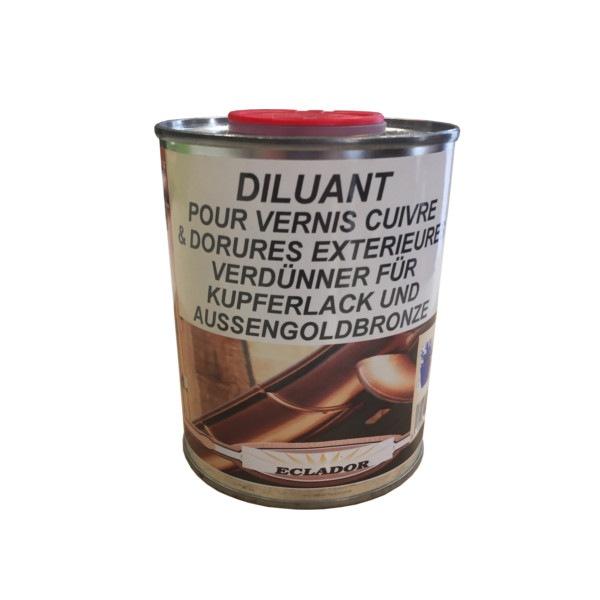 Diluant pour vernis cuivré et dorures extérieures Eclador 500ml