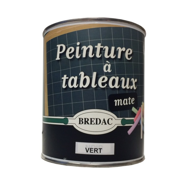 Peinture à tableaux mate 1 L vert Brédac