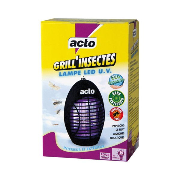 Grill'Insectes lampe LED UV Acto