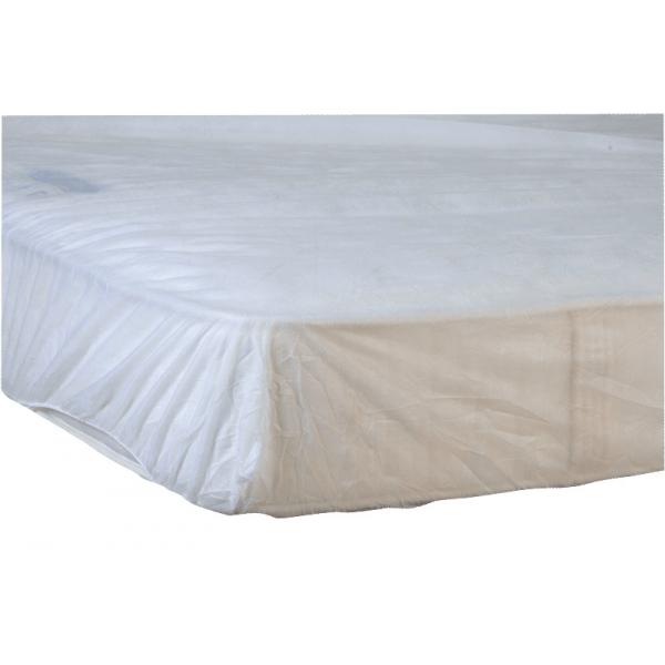 lot de 100 draps housse lastiqu s plp 140 x 190 15 cm distriver. Black Bedroom Furniture Sets. Home Design Ideas
