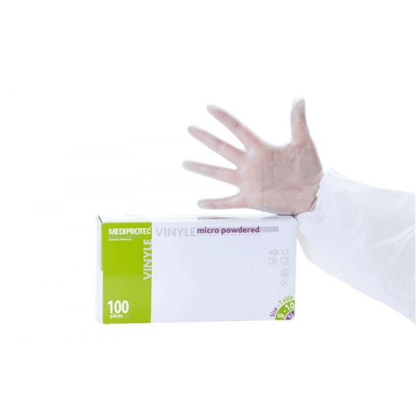 Boite de 100 Gants vinyle micro poudré non stériles