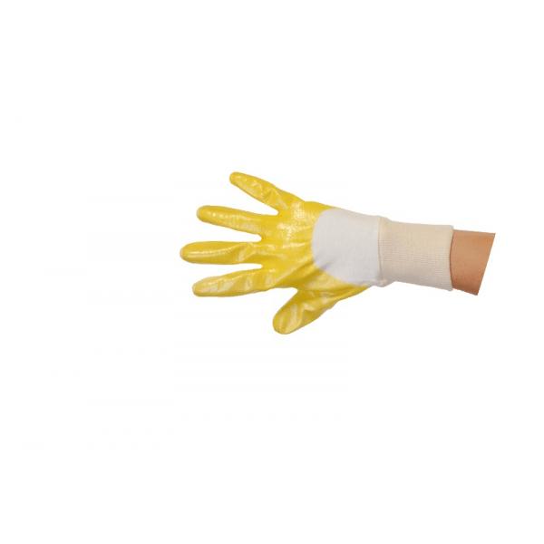 Paire de gants de manutention enduction nitrile jaune