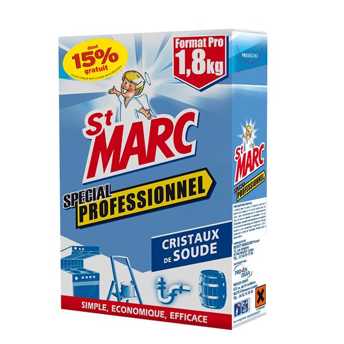 St Marc cristaux de soude professionnel 1.8 kg