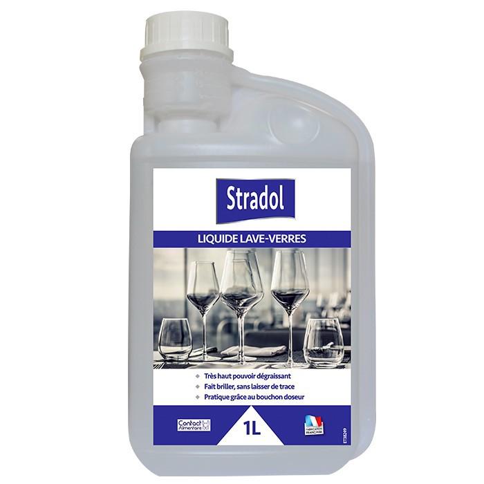 Liquide lave verre pour machine Stradol 1L