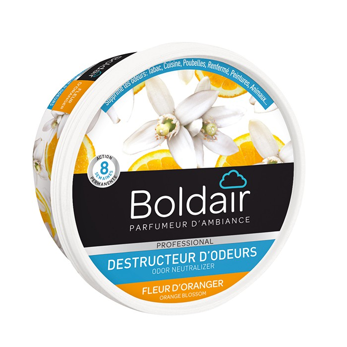 boldair gel destructeur d 39 odeurs fleur d 39 oranger distriver. Black Bedroom Furniture Sets. Home Design Ideas