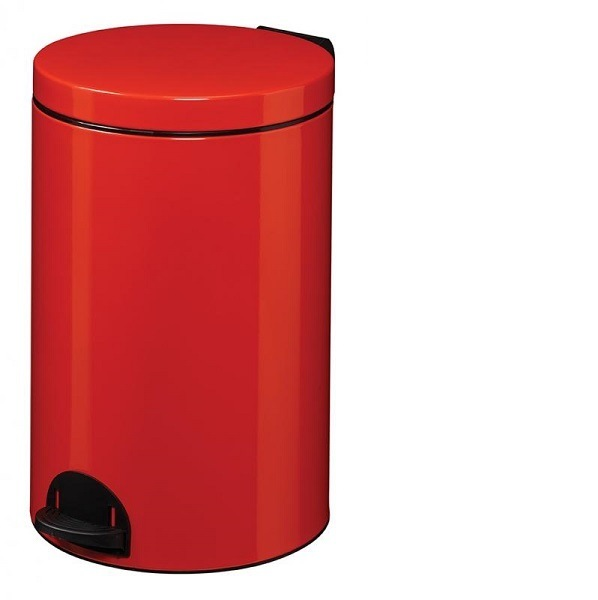 Poubelle à pédale métal 20L rouge Ref 90363