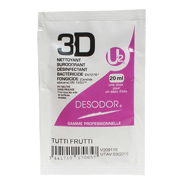 Détergent désinfectant Tutti Frutti dosettes 20 ml Desodor 3D