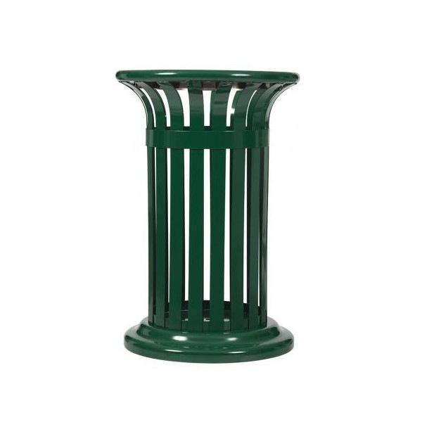 Corbeille extérieure 60 L métal vert Ref 57997