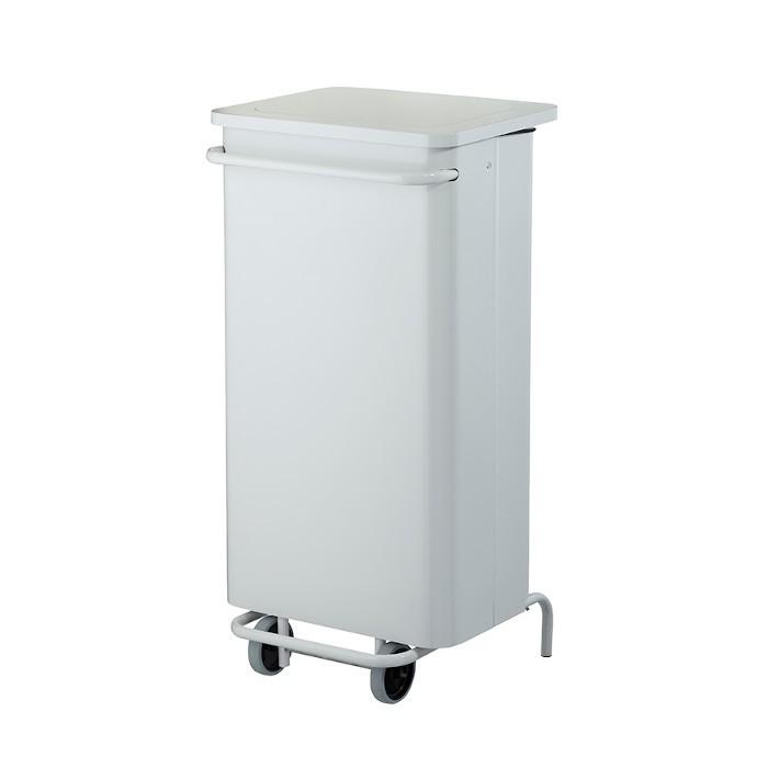 Poubelle mobile à pédale 110L Blanc Ref 57250
