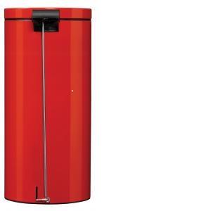 Poubelle à pédale rouge avec seau 30 L Ref 90353