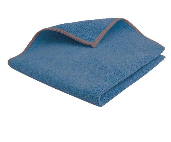 Lavette microfibre premium 38×38 cm bleu lot de 5