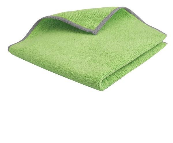 Lavette microfibre premium 38×38 cm vert lot de 5