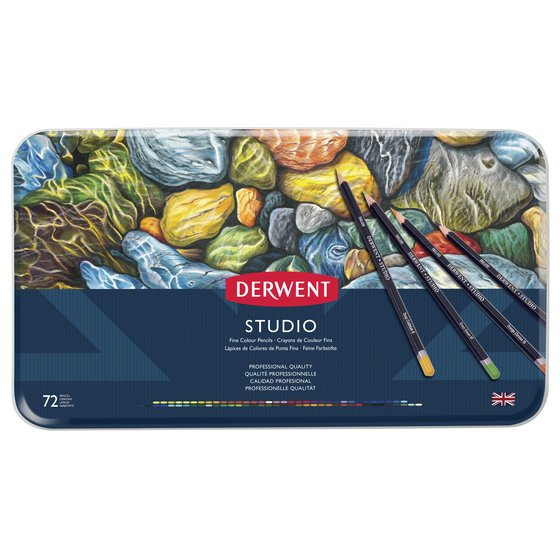 Crayons de couleur 72 Studio coffret métal Derwent