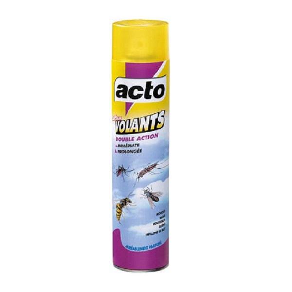 Aérosol insecticide spécial volants double action Acto