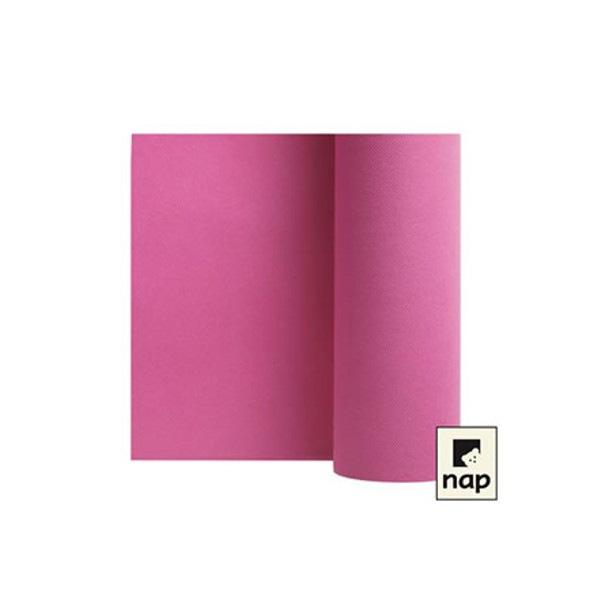 Chemin de table celisoft 30 cm x 24 ml coloris pivoine
