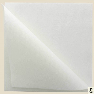 Carton de 18 x 100 serviettes Ouate 39 x 39 cm 2 plis Blanc