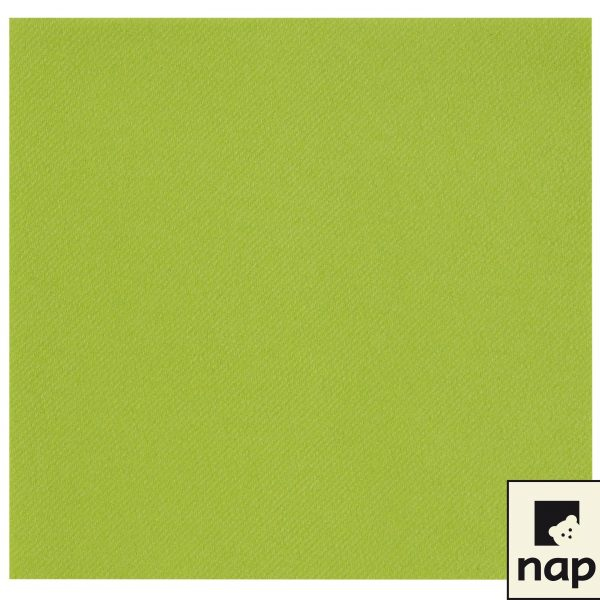 PAQUET 50 SERVIETTES DE TABLE VERT ANIS 40X40