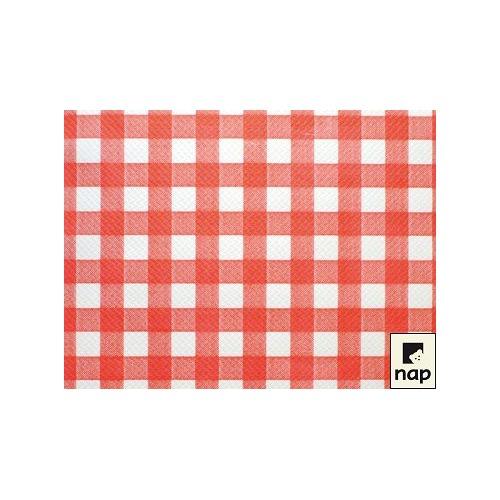 Sets de table 30 x 40 cm décor Céline rouge par 500
