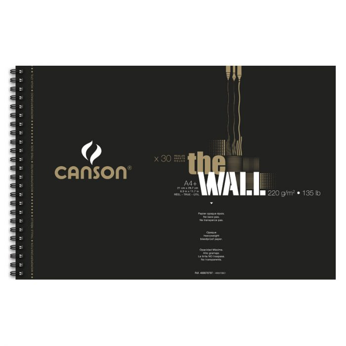 Bloc de papier Canson The Wall A4+