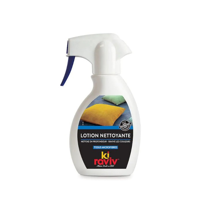 Lotion nettoyante tissus microfibres et alcantara Kiraviv