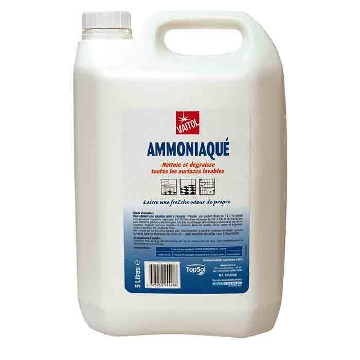 Nettoyant dégraissant ammoniaqué Vaitol 5L