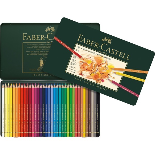 Crayon Polychromos boîte métal de 36 pièces Faber Castell