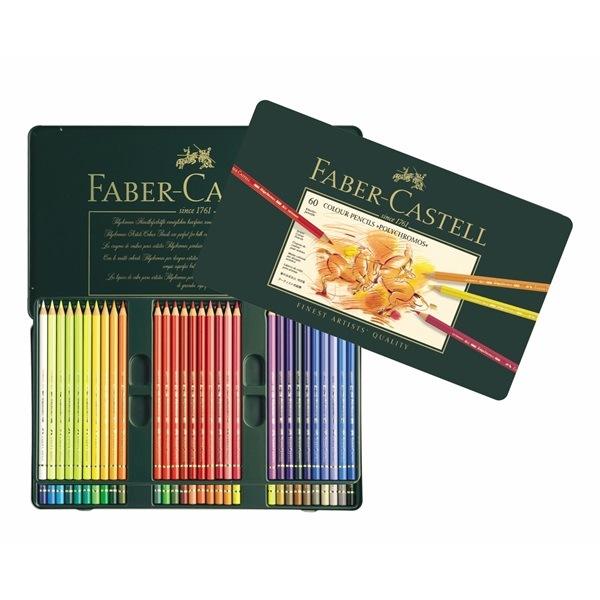Crayon Polychromos boîte métal de 60 pièces Faber Castell
