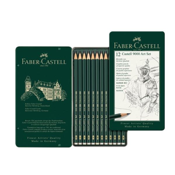 Set Art de 12 crayons graphite CASTELL 9000