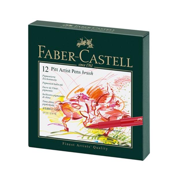 Feutre Pitt Artist Pen studio box de 12 Faber Castell