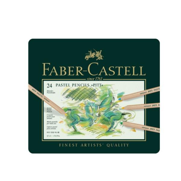 Crayon Pitt Pastel boîte métal de 24 pièces Faber Castell