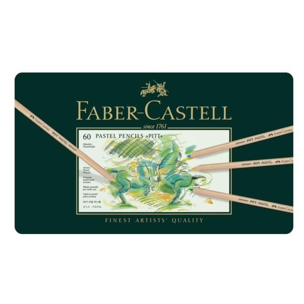Crayon Pitt Pastel boîte métal de 60 pièces Faber Castell