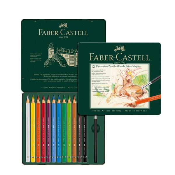Crayons de couleur Albrecht Dürer Magnus boîte métal de 12