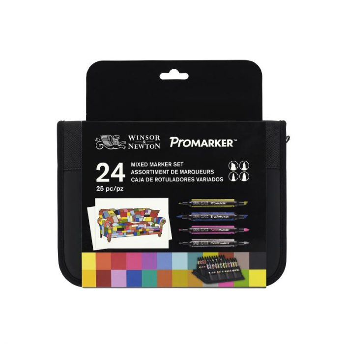 Trousse assortiment de 24 ProMarkers et BrushMarker