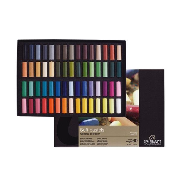 Set pastels tendres Rembrandt 60 demi pastels