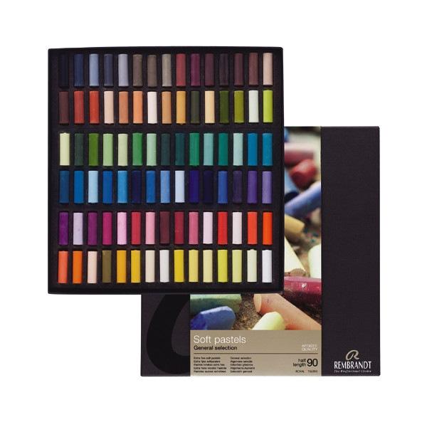 Set pastels tendres Rembrandt 90 demi pastels