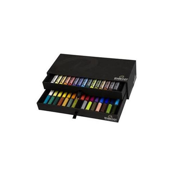 Set pastels tendres Rembrandt 15 pastels et 30 demi pastels