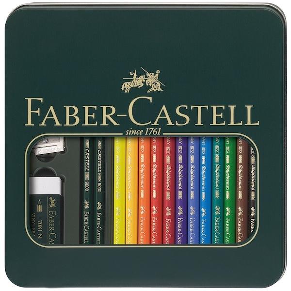 Boîte métal Mixed Media Polychromos Faber Castell