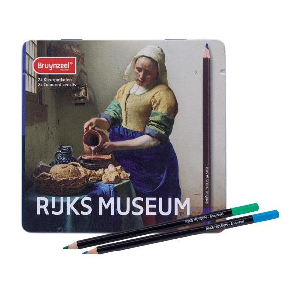 Coffret 24 Crayons de couleur la laitiere Bruynzeel