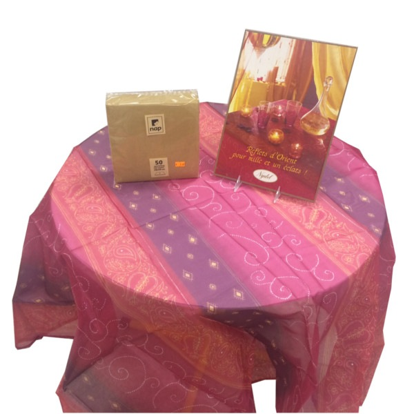 """Nappe Polyester """"reflets d'orient"""" Nydel"""