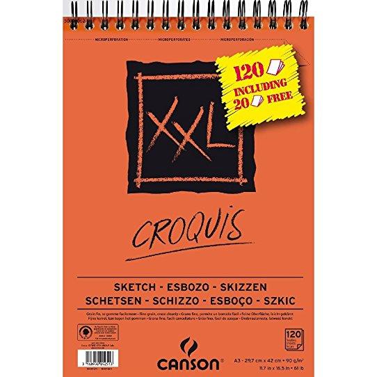 Bloc Canson XL Croquis 120 feuilles A3