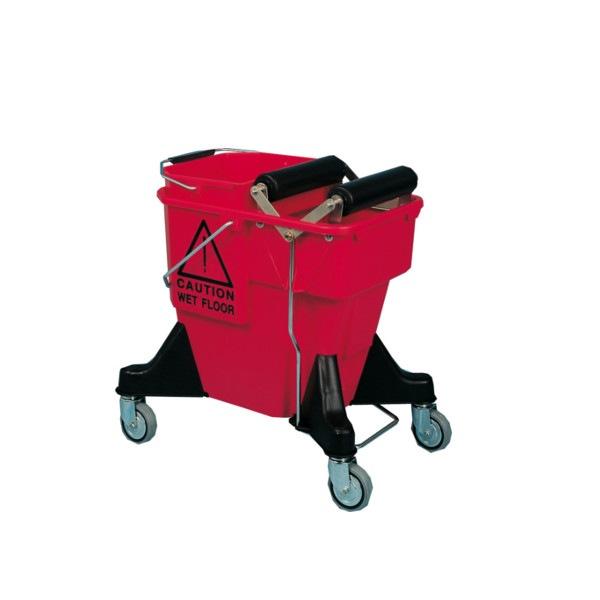 Chariot de lavage plastique 2x10L presse intégrée Azurdi