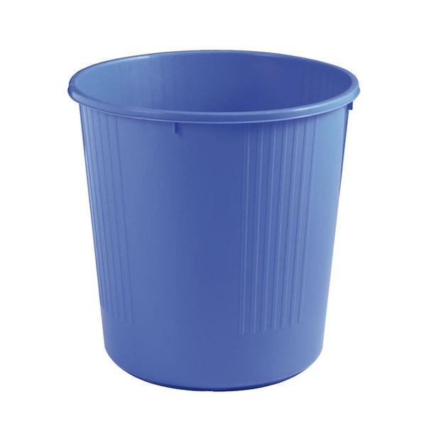 Corbeille écoline pleine 14L bleu Tampel