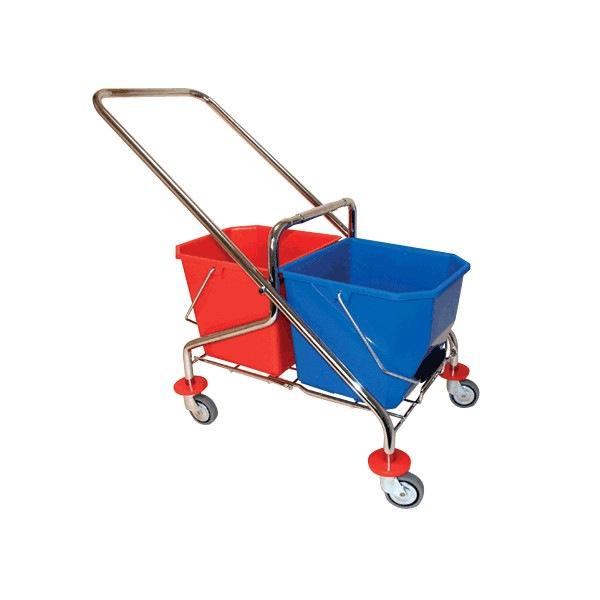 Chariot de lavage pliant inox 2x15L Azurdi