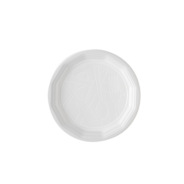 Carton 10x100 assiettes plates 220 mm