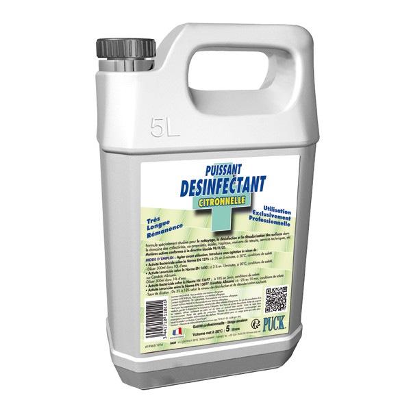 Détergent désinfectant surodorant Citronnelle