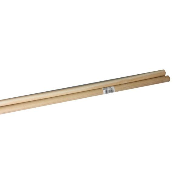 Manche à balai bois sans filetage 130 cm