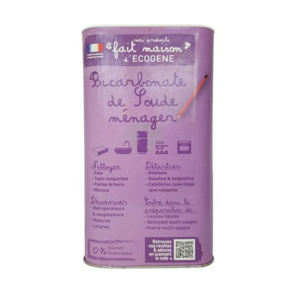 Bicarbonate de soude ménager 1,5 kg Ecogène