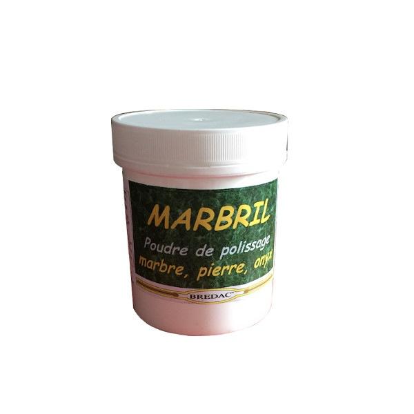 Marbril poudre de polissage marbre 200g Bredac