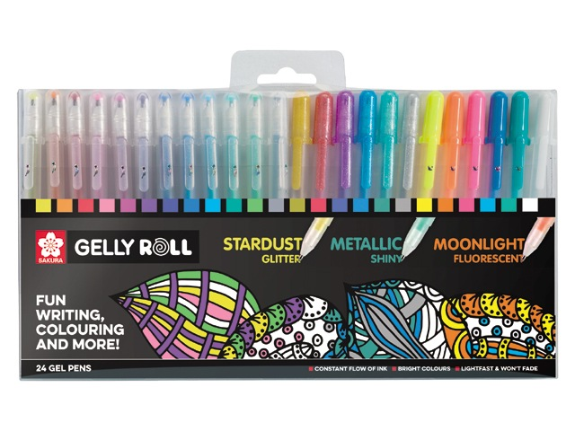 Set 24 stylos Gelly Roll Sakura